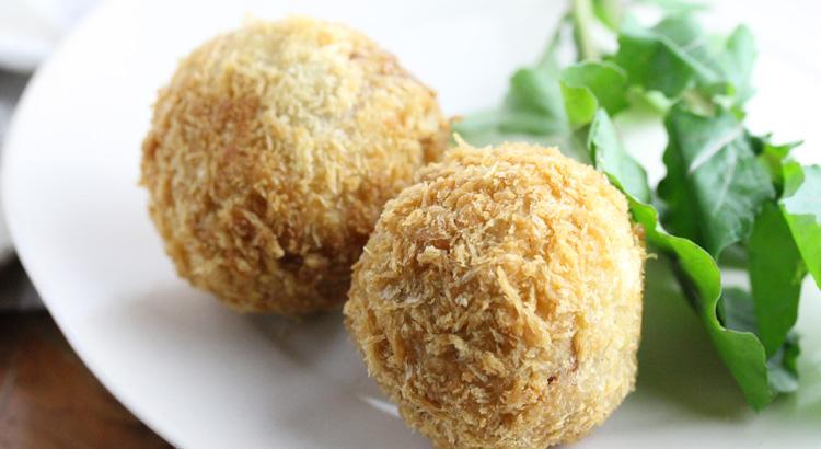 12月レシピその2:里芋とクルミのコロッケ