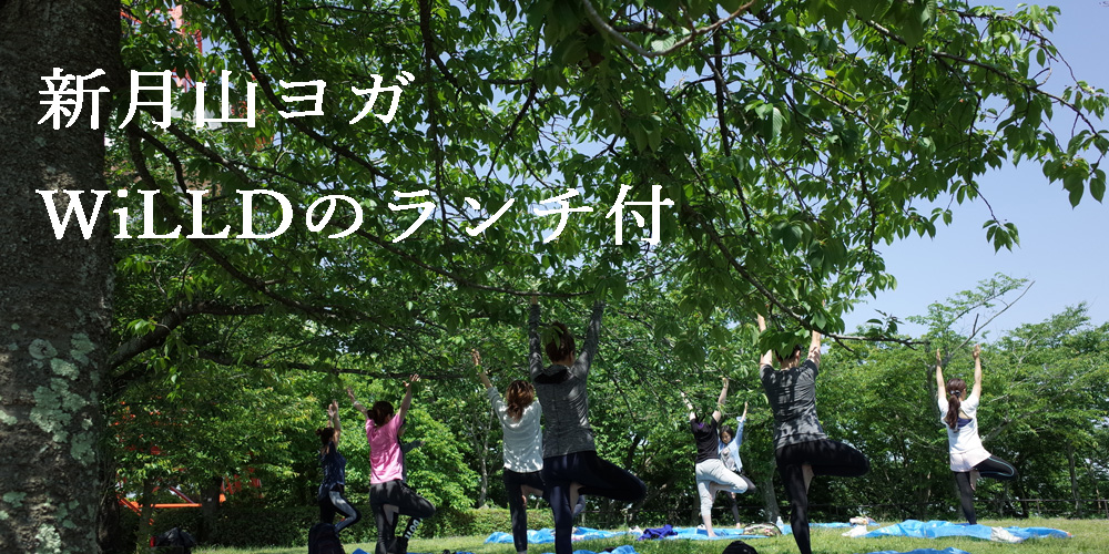 2019年4月5日(金)ペイちん生の新月山ヨガWiLLDランチBOXつき♪